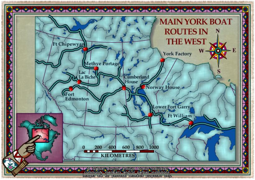 Map Of York Canada.The Virtual Museum Of Metis History And Culture